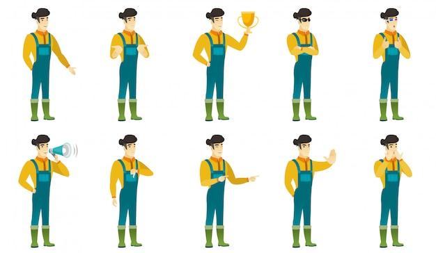 Conjunto de caracteres de agricultor