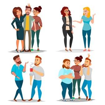 Conjunto de caracteres de amigos