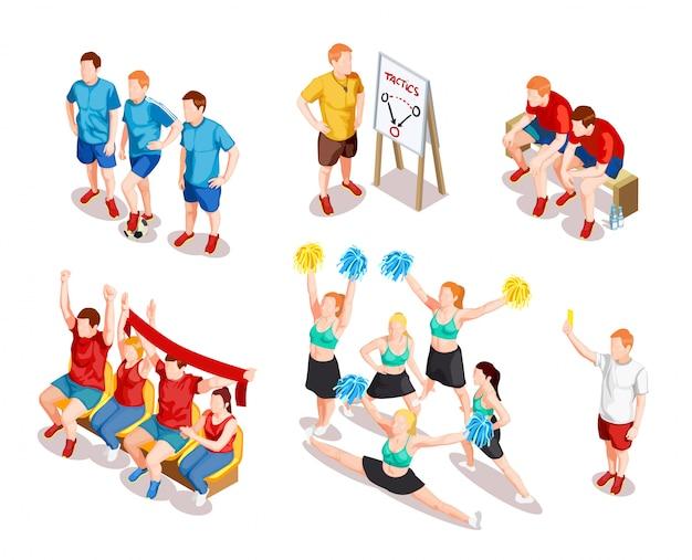 Conjunto de caracteres de artista de esportes