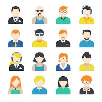 Conjunto de caracteres de avatar