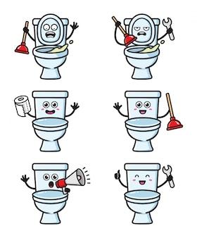 Conjunto de caracteres de banheiro