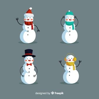 Conjunto de caracteres de boneco de neve