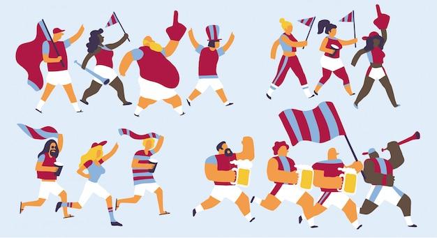 Conjunto de caracteres de celebração de equipe de west ham