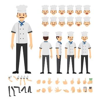 Conjunto de caracteres de chef