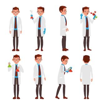 Conjunto de caracteres de cientista profissional
