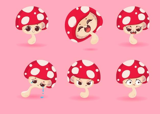 Conjunto de caracteres de cogumelo
