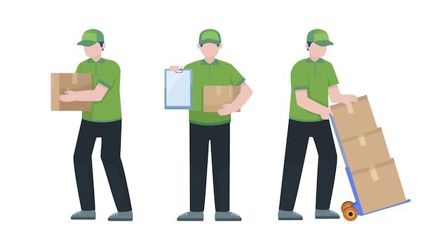 Conjunto de caracteres de correio de entrega