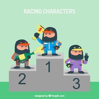 Conjunto de caracteres de corrida de f1