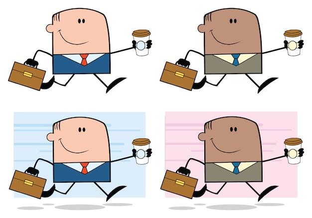 Conjunto de caracteres de desenhos animados de empresário