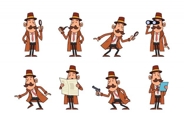 Conjunto de caracteres de detetive