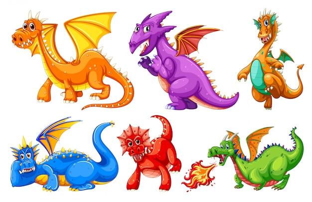 Conjunto de caracteres de dragão