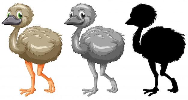 Conjunto de caracteres de emu