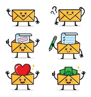 Conjunto de caracteres de envelopes