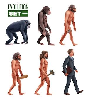 Conjunto de caracteres de estágios de desenvolvimento humano