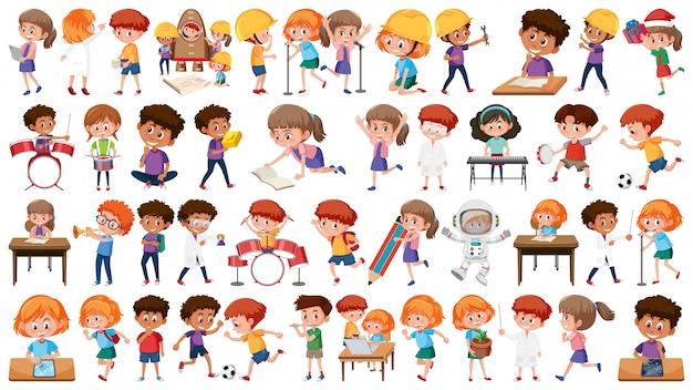 Conjunto de caracteres de estudante