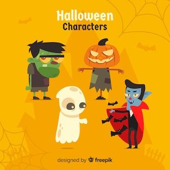 Conjunto de caracteres de halloween em estilo cartoon