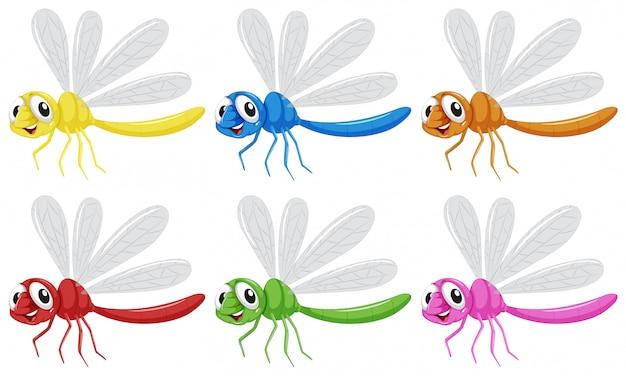 Conjunto de caracteres de libélula