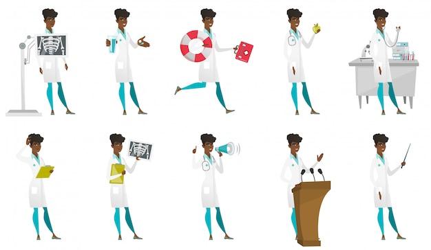Conjunto de caracteres de médico