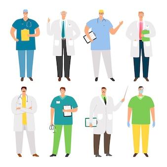 Conjunto de caracteres de médicos