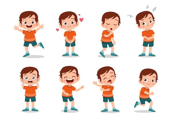Conjunto de caracteres de meninos