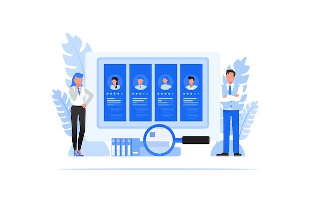 Conjunto de caracteres de pessoas de negócios. conceito de recursos humanos.