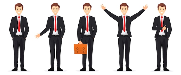 Conjunto de caracteres de pessoas para negócios