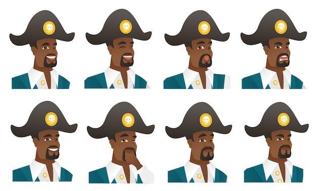 Conjunto de caracteres de pirata.