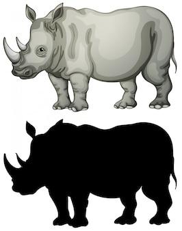 Conjunto de caracteres de rinoceronte