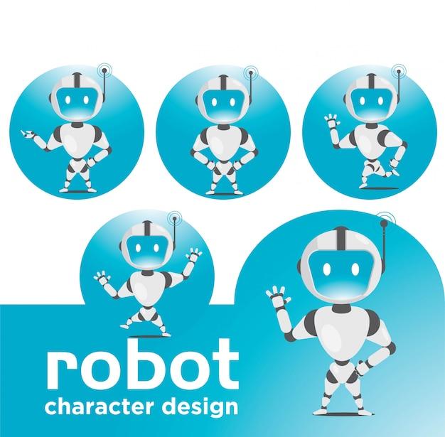 Conjunto de caracteres de robô