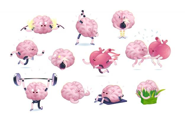Conjunto de caracteres do cérebro