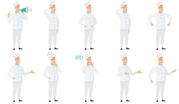 Conjunto de caracteres do chef.