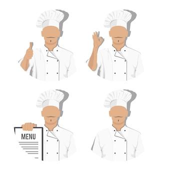 Conjunto de caracteres do chef