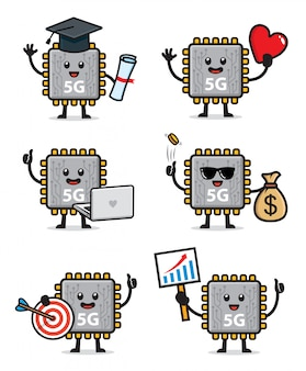 Conjunto de caracteres do chipset 5g