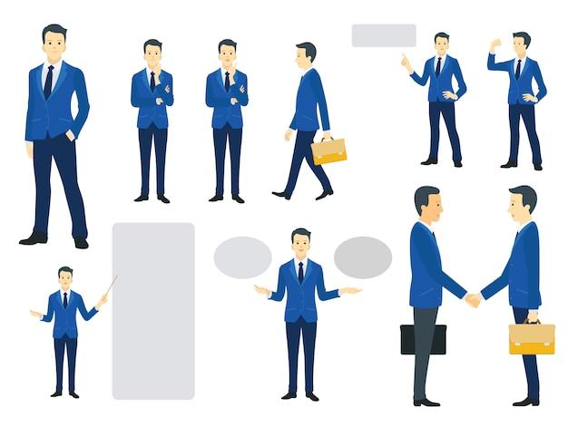 Conjunto de caracteres do empresário