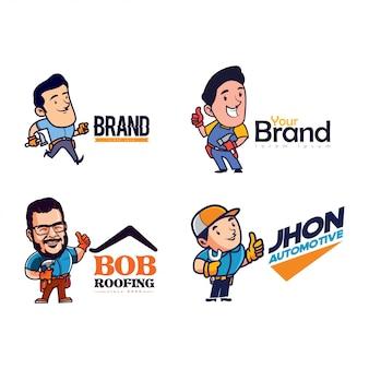 Conjunto de caracteres do logotipo da mascote