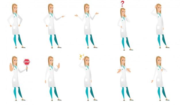 Conjunto de caracteres do médico.