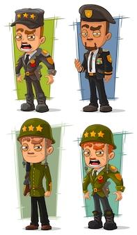 Conjunto de caracteres geral do exército dos desenhos animados