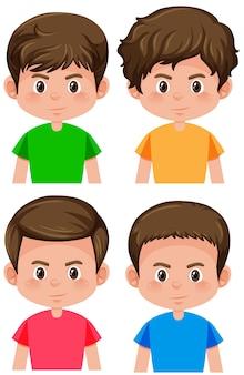 Conjunto de caracteres masculinos