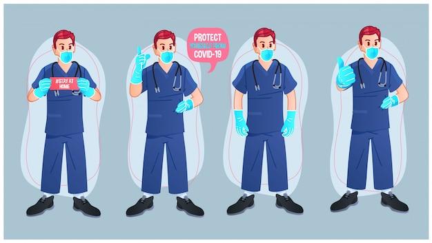 Conjunto de caracteres médico multiuso
