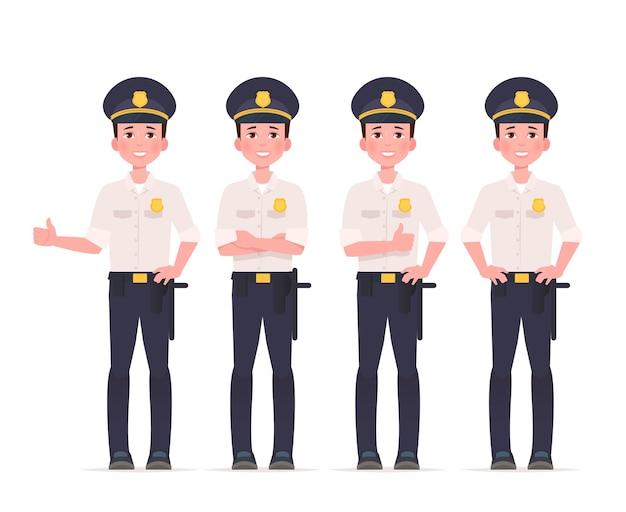 Conjunto de caracteres policiais