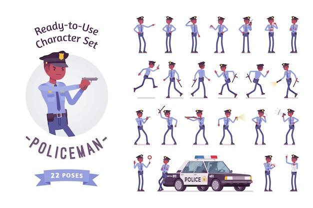 Conjunto de caracteres policial