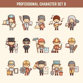 Conjunto de caracteres profissional