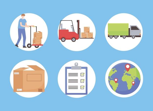 Conjunto de carga logística