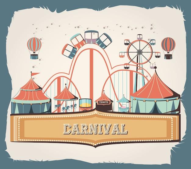 Conjunto de carnaval coleção ícones vector ilustração design