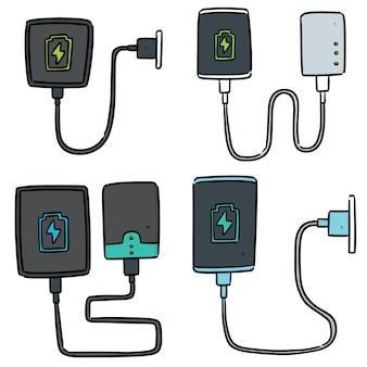 Conjunto de carregamento de smartphone