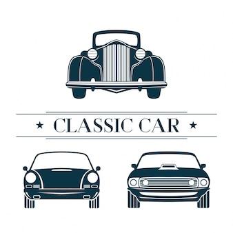 Conjunto de carros clássicos
