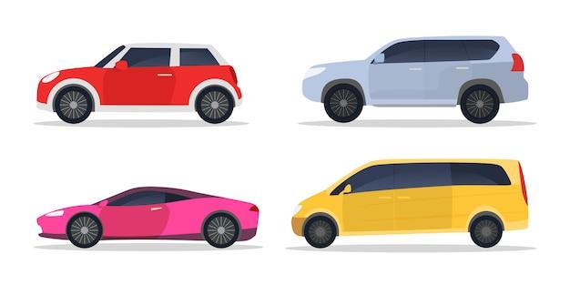 Conjunto de carros da cidade