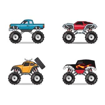 Conjunto de carros monstro