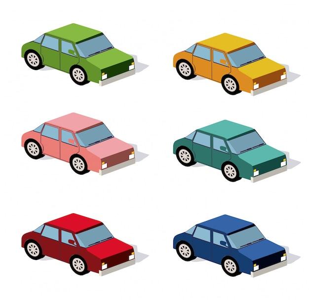 Conjunto de carros