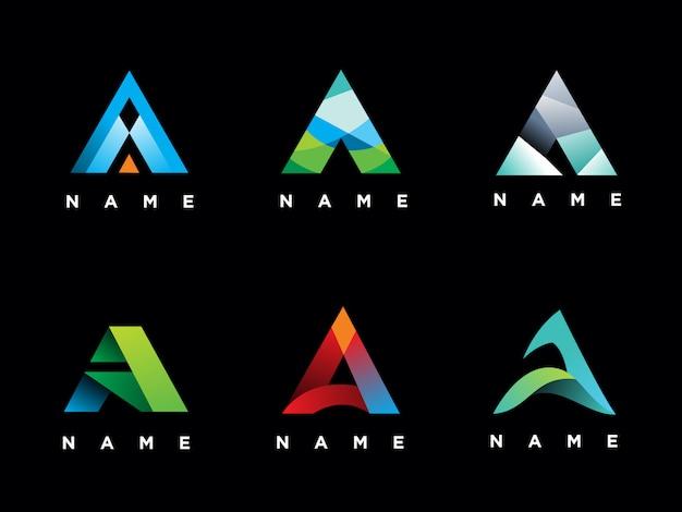 Conjunto de carta, um modelo de logotipo